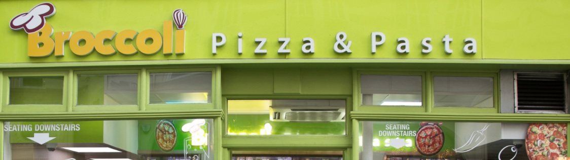 broccoli pizza pasta franchise storefront