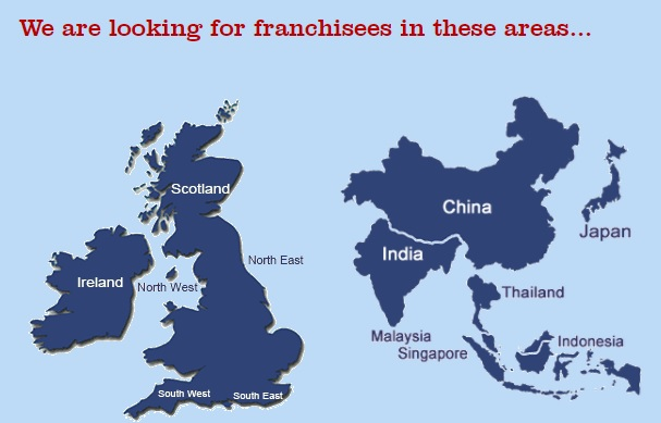 CHICKEN COTTAGE FRANCHISE WORLD MAP