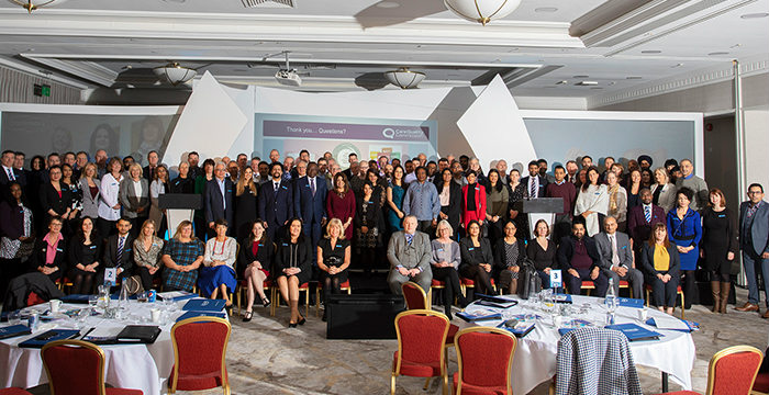 Caremark franchise big group picture of workers and franchisees