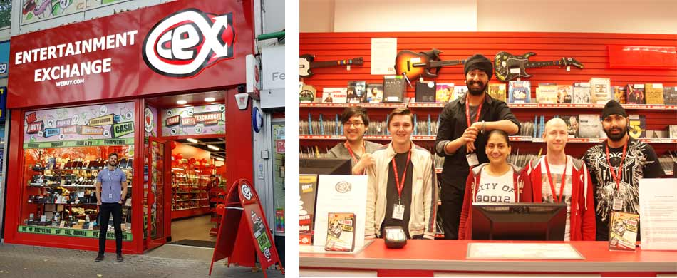 CeX franchise staff and outlet