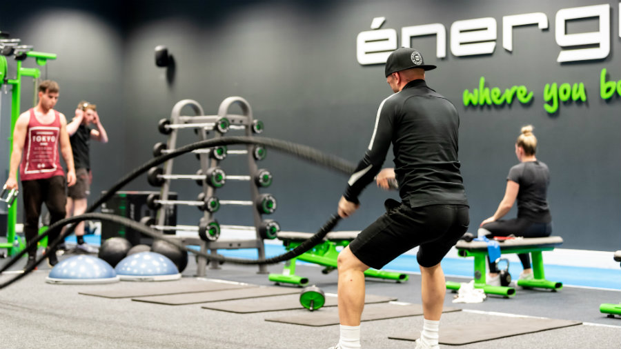 energie fitness franchise citywest gym battle ropes