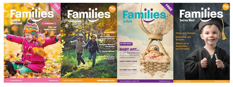Families Magazine franchise covers
