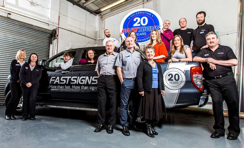 Fastsigns franchise van based