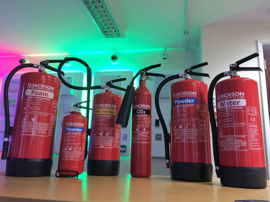 Jackson Fire and Security Franchise fire extinguisher