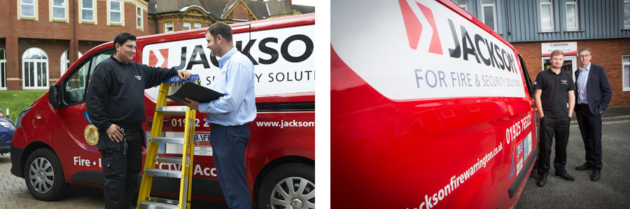 Jackson fire and security franchise van
