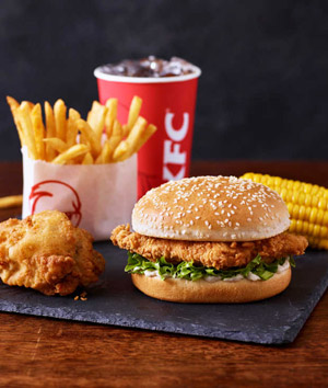 KFC franchise chicken burger meal