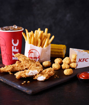 KFC franchise chicken meal