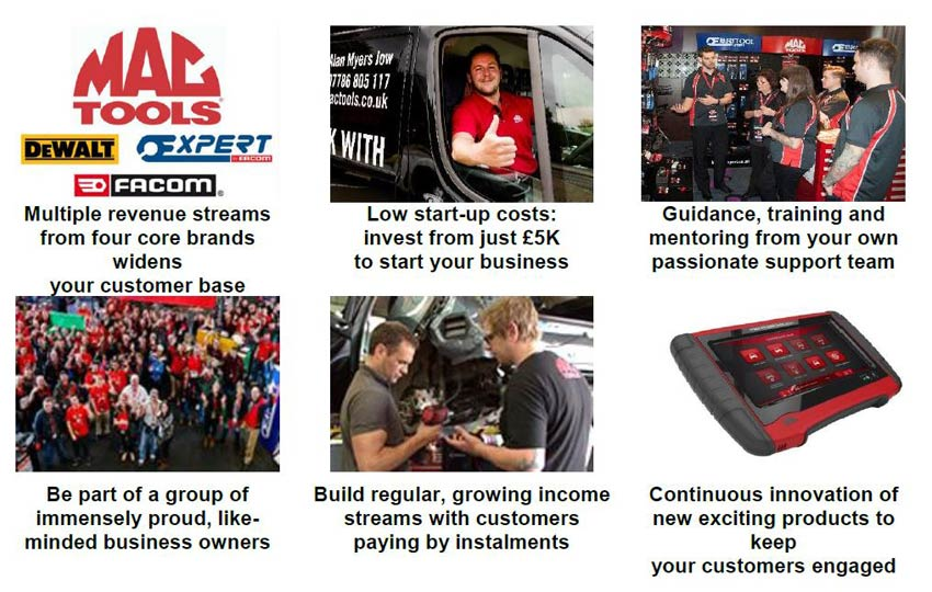 Mac tools franchise benefits