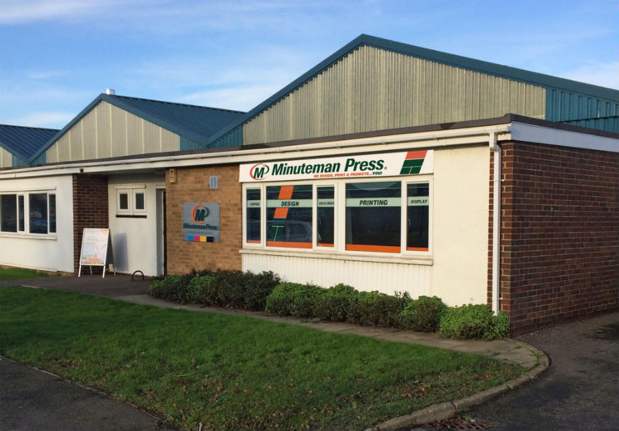 Minuteman press franchise store front