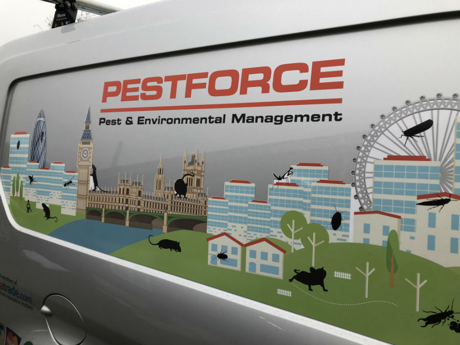 Pestforce franchise van livery