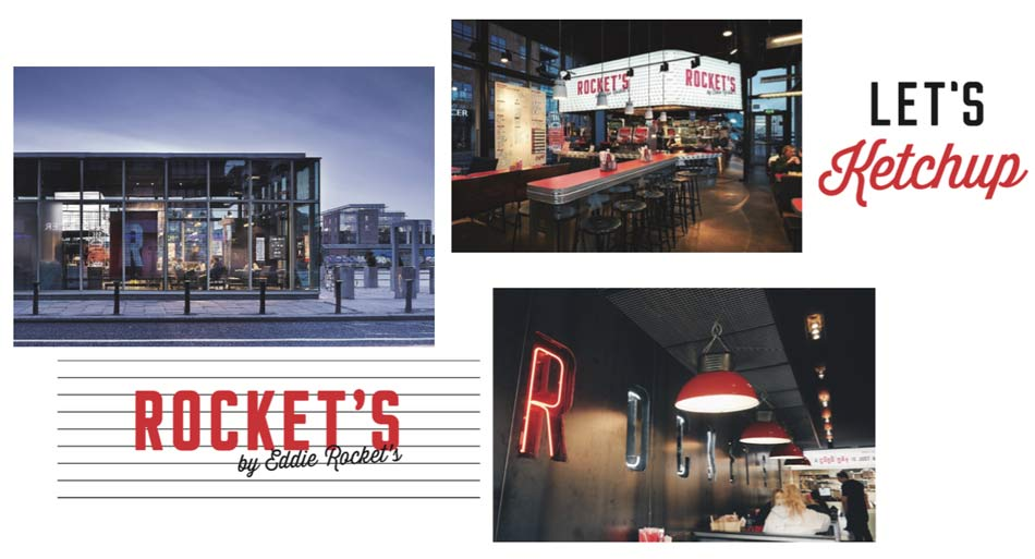Rocket's burger franchise restaurant