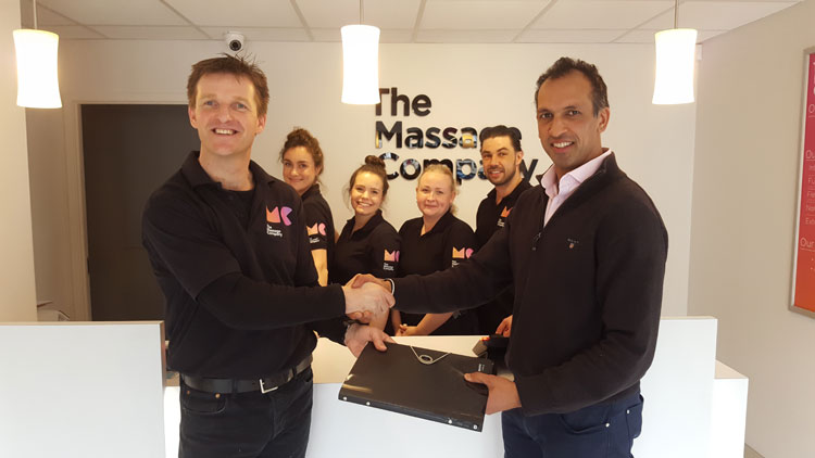The Massage Company first franchisee